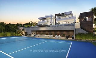Contemporary villa with tennis court for sale in the heart of the Golf Valley, Nueva Andalucía, Marbella 5