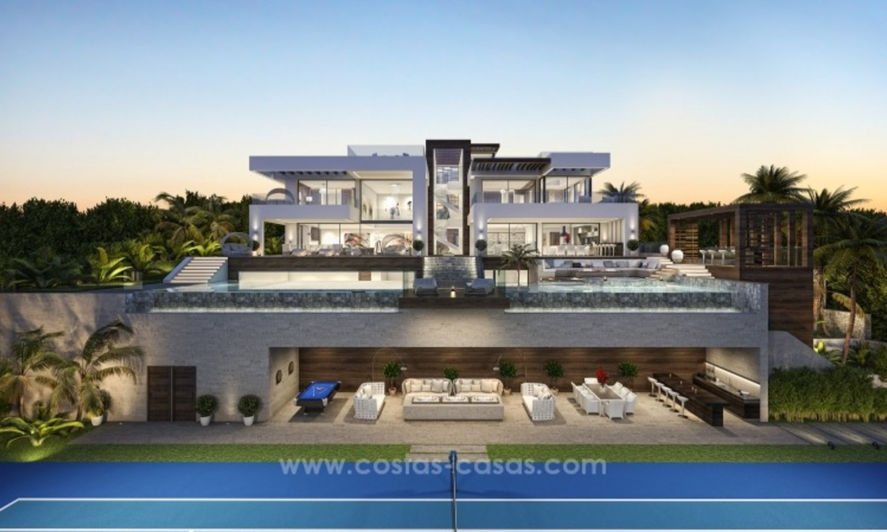 Contemporary villa with tennis court for sale in the heart of the Golf Valley, Nueva Andalucía, Marbella 4