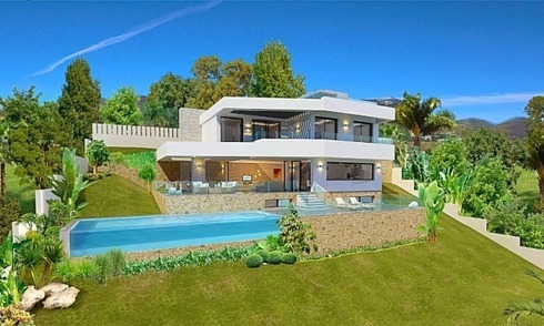 Bargain modern new villa with sea views for sale in Benahavis - Marbella