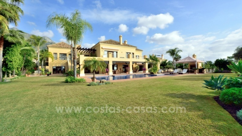Great villa with Sea views for sale on the Golden Mile, Sierra Blanca, Marbella