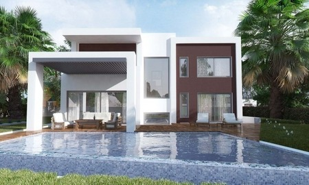 Modern New Villas for sale in gated community in the area of Marbella – Benahavis – Estepona