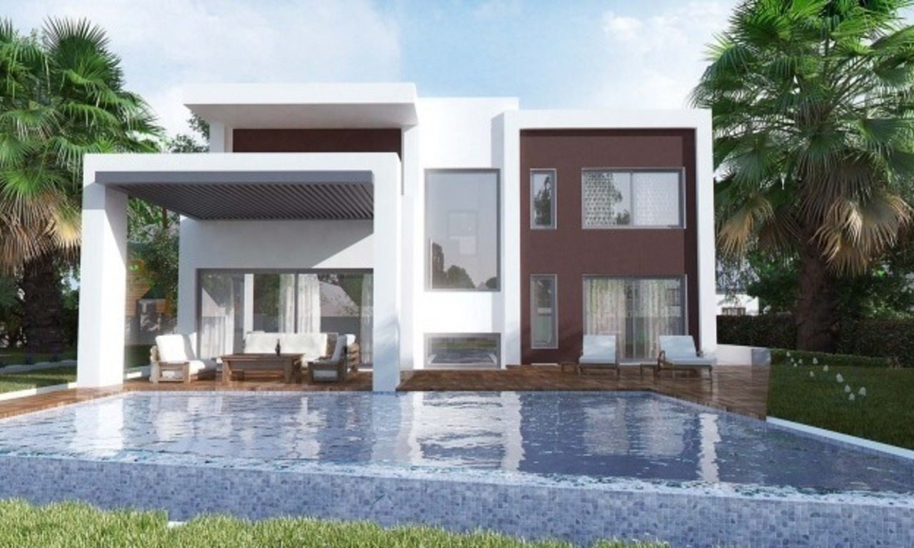 Modern New Villas for sale in gated community in the area of Marbella – Benahavis – Estepona 0