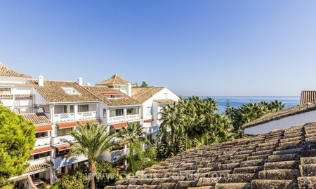 Penthouse in first line beach for sale, on the Golden Mile of Marbella