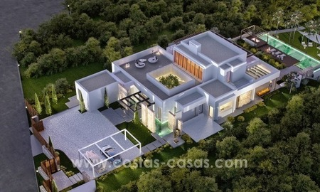 Superb Modern Front Line Golf Villa for sale in Benahavis - Marbella