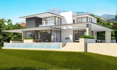 2 Brand new modern villas for sale on the Golden Mile, Marbella