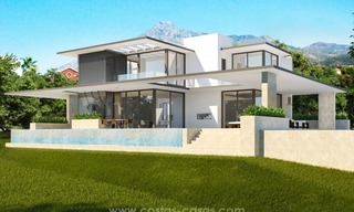 2 Brand new modern villas for sale on the Golden Mile, Marbella 0