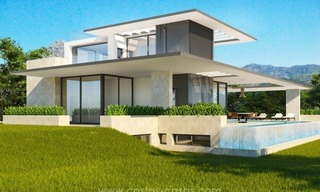 2 Brand new modern villas for sale on the Golden Mile, Marbella 1