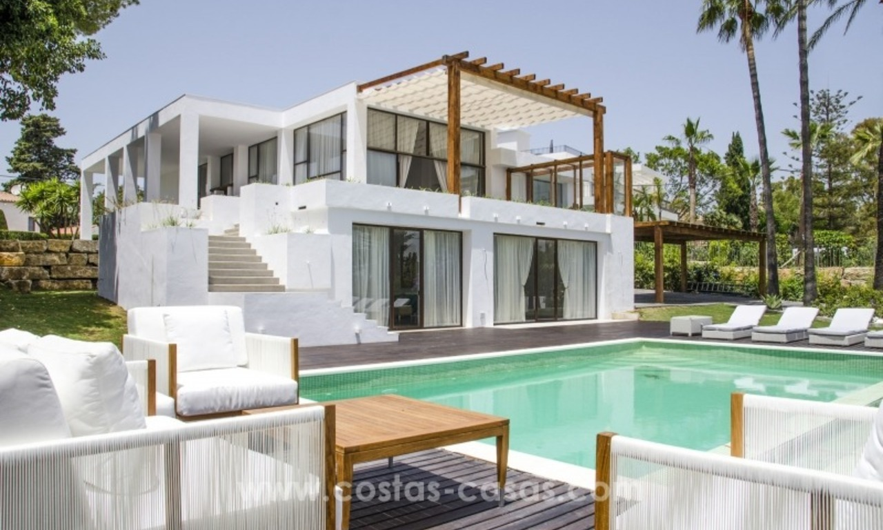 Renovated Modern villa for sale on the Golden Mile, Marbella 0