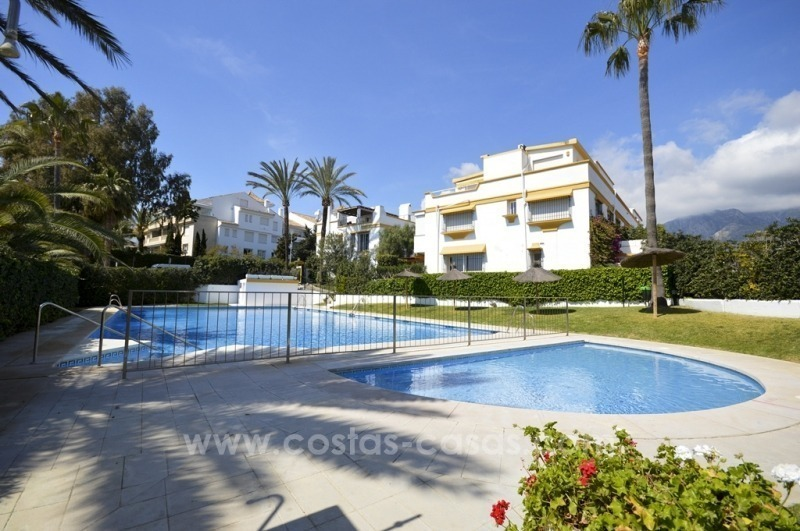 Beachside Townhouse for sale on the Golden Mile, Marbella