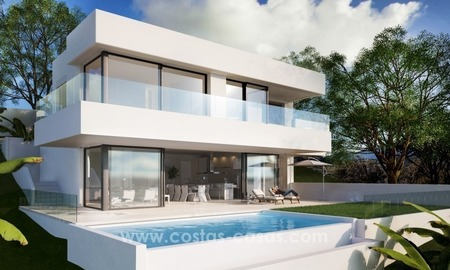 Modern contemporary new villa for sale with sea views in Estepona