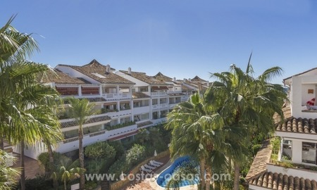 Very nice beachside Penthouse apartment for sale on the Golden Mile in Marbella