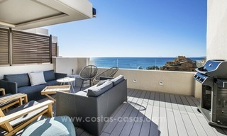 Modern Frontline Beach Penthouse apartment for sale on the New Golden Mile, Marbella - Estepona 2