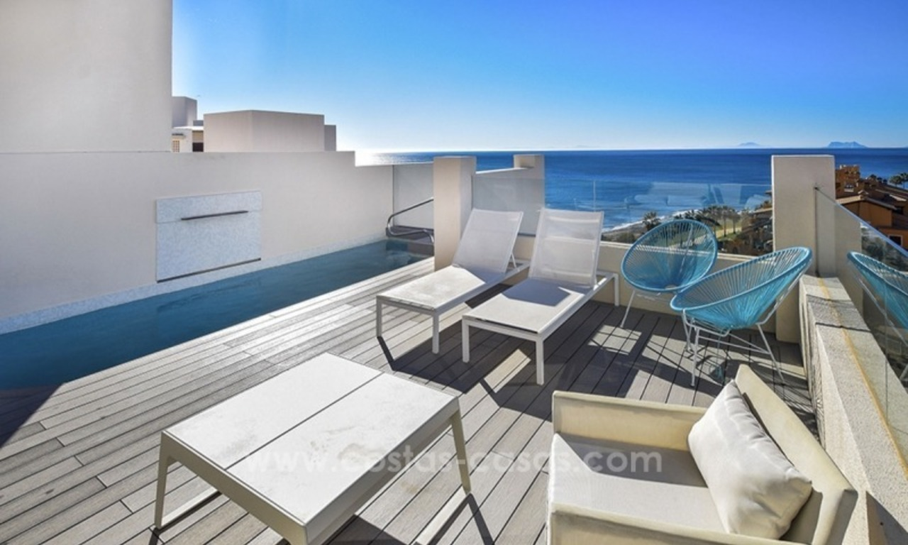 Modern Frontline Beach Penthouse apartment for sale on the New Golden Mile, Marbella - Estepona 1
