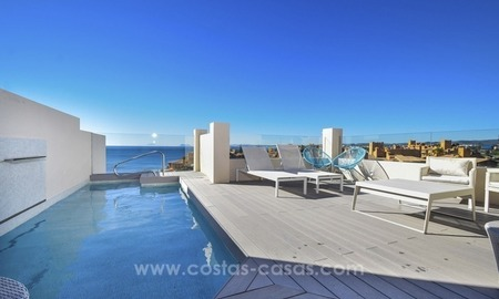 Modern Frontline Beach Penthouse apartment for sale on the New Golden Mile, Marbella - Estepona