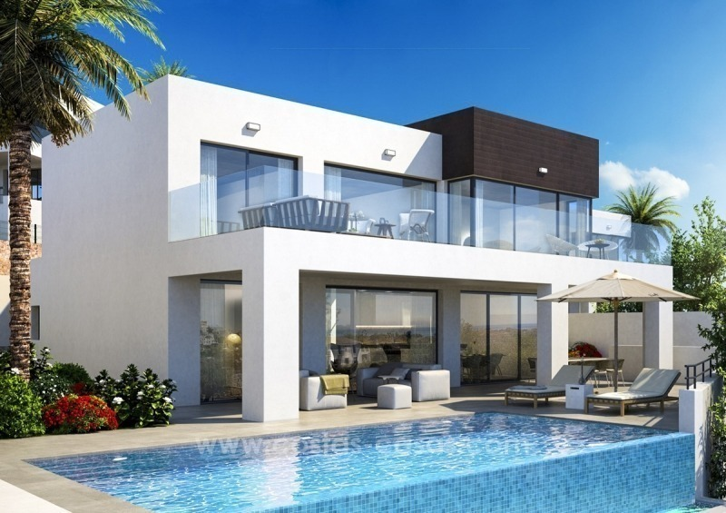 New modern detached villas for sale in La Cala de Mijas, Costa del Sol