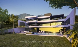 New modern luxury villa for sale in Marbella with sea views under construction 1