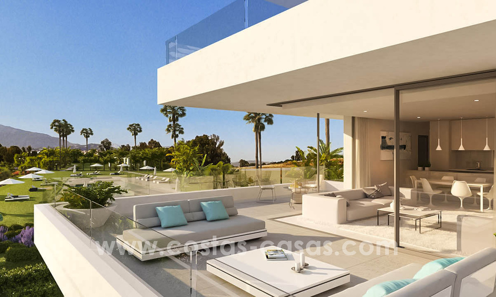 Ready to move in modern designer golf apartments for sale in luxurious grounds between Marbella and Estepona 23732