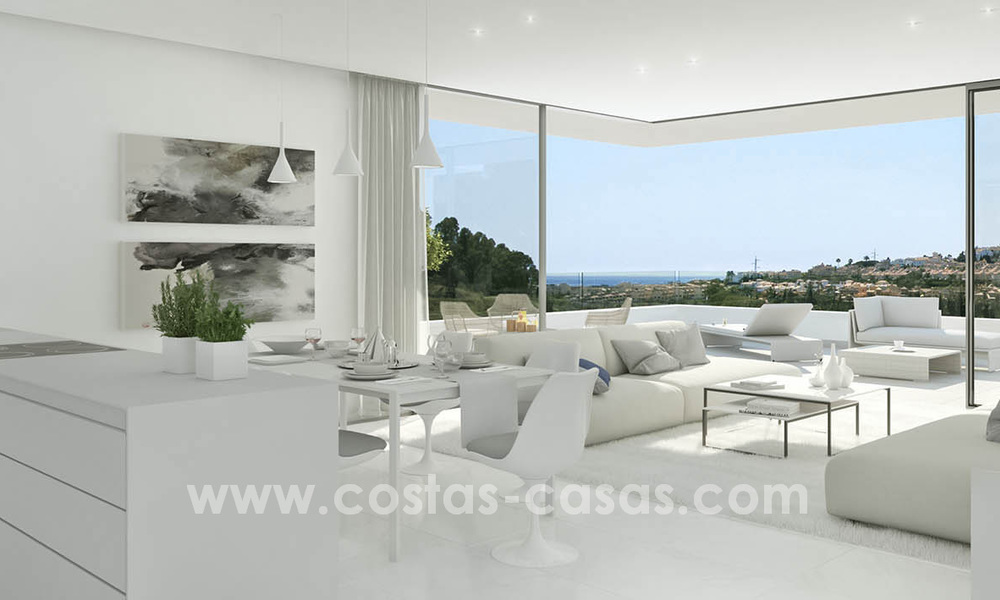 Ready to move in modern designer golf apartments for sale in luxurious grounds between Marbella and Estepona 23734