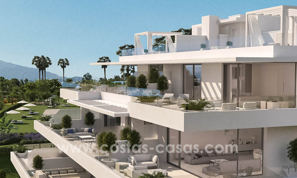 Ready to move in modern designer golf apartments for sale in luxurious grounds between Marbella and Estepona 23739