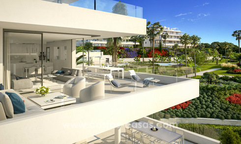 Ready to move in modern designer golf apartments for sale in luxurious grounds between Marbella and Estepona 23741