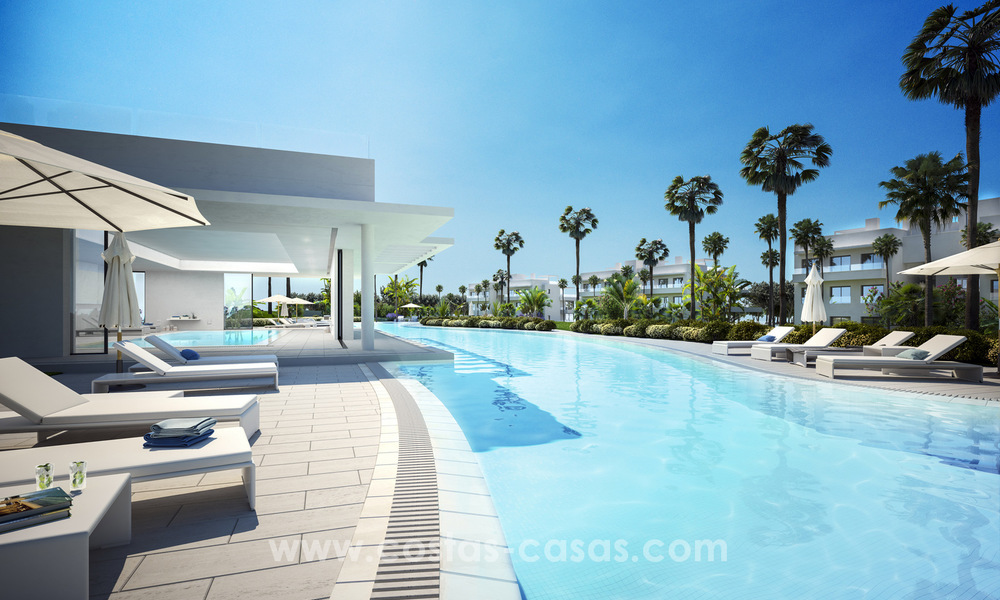 Ready to move in modern designer golf apartments for sale in luxurious grounds between Marbella and Estepona 23745