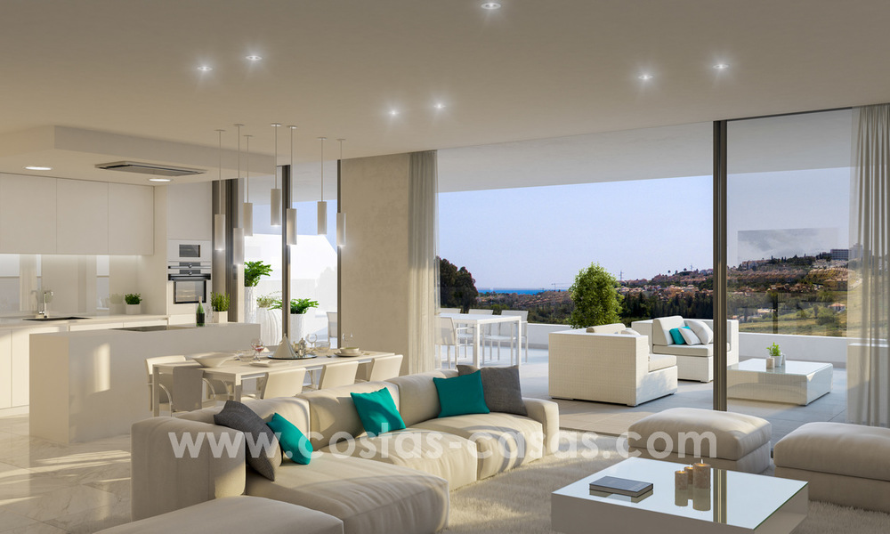 Ready to move in modern designer golf apartments for sale in luxurious grounds between Marbella and Estepona 23747