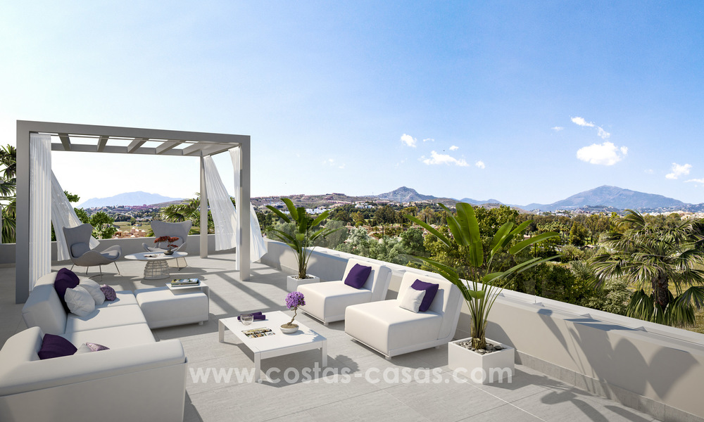 Ready to move in modern designer golf apartments for sale in luxurious grounds between Marbella and Estepona 23749
