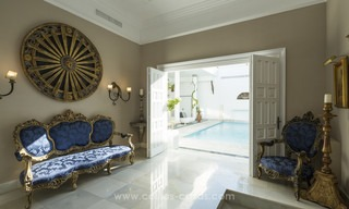 Frontline beach Balinese style villa for sale in the East of Marbella 13198