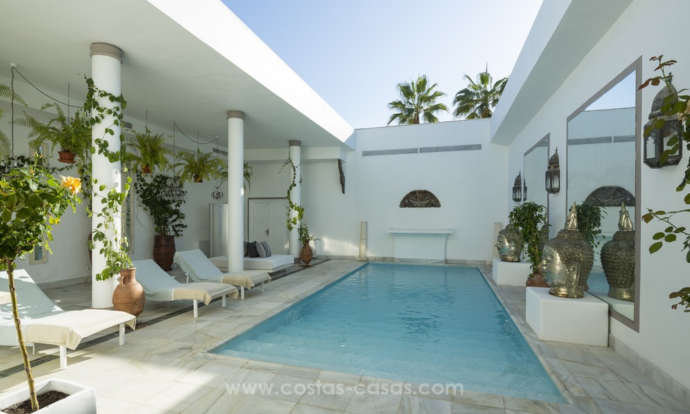 Frontline beach Balinese style villa for sale in the East of Marbella 13199