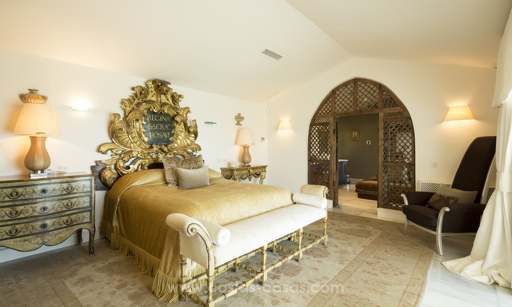 Frontline beach Balinese style villa for sale in the East of Marbella 13202
