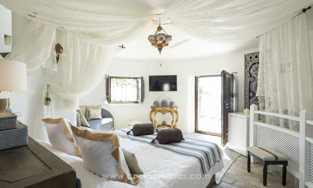 Frontline beach Balinese style villa for sale in the East of Marbella 13210