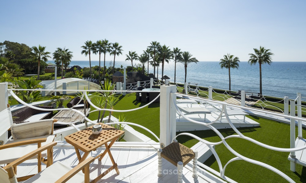 Frontline beach Balinese style villa for sale in the East of Marbella 13211
