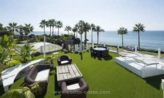 Frontline beach Balinese style villa for sale in the East of Marbella 13212