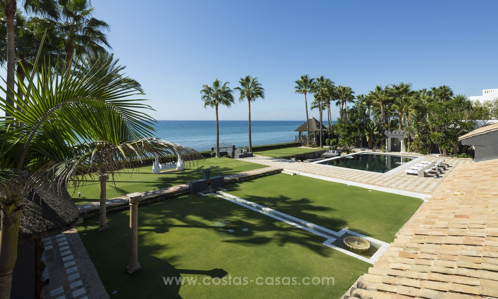 Frontline beach Balinese style villa for sale in the East of Marbella 13213