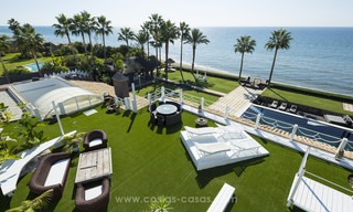Frontline beach Balinese style villa for sale in the East of Marbella 13214