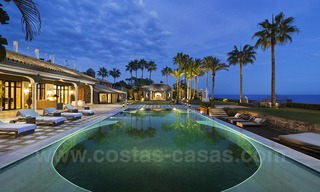 Frontline beach Balinese style villa for sale in the East of Marbella 13193