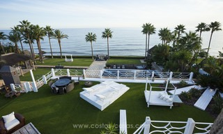 Frontline beach Balinese style villa for sale in the East of Marbella 13220