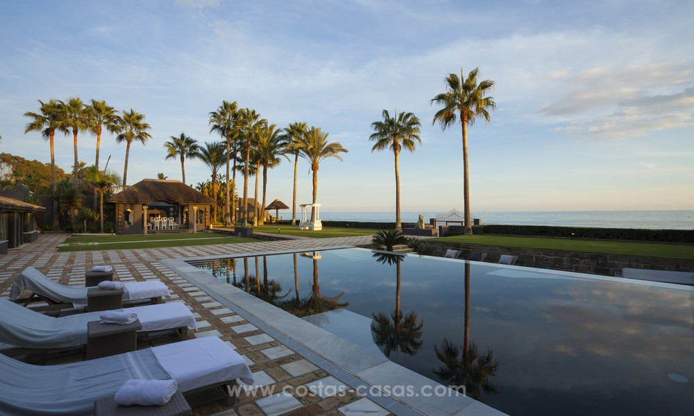 Frontline beach Balinese style villa for sale in the East of Marbella 13221