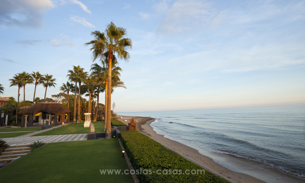 Frontline beach Balinese style villa for sale in the East of Marbella 13222