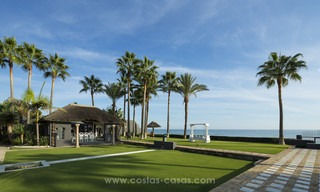 Frontline beach Balinese style villa for sale in the East of Marbella 13224