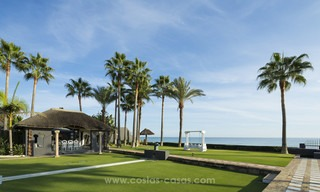 Frontline beach Balinese style villa for sale in the East of Marbella 13226