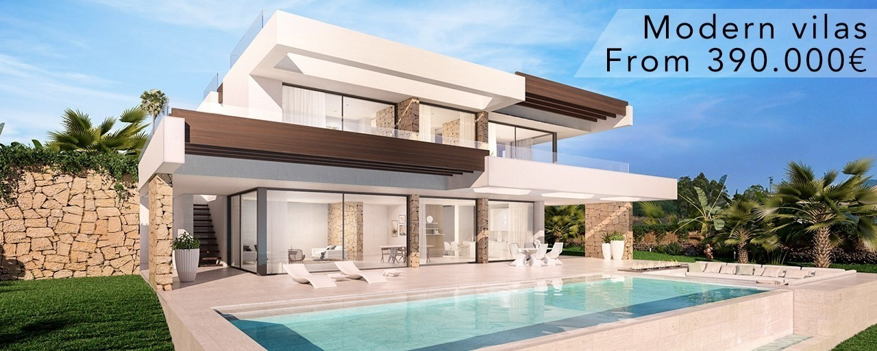 Bespoke Modern Contemporary Designer Villas for sale in Marbella, Benahavis, Estepona, Mijas and on the whole Costa del Sol