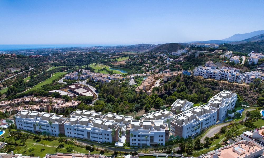 New modern apartments for sale in Benahavis - Marbella with golf and sea views. Last units, key ready. 6% Discount! 7382