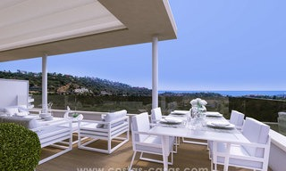 New modern apartments for sale in Benahavis - Marbella with golf and sea views. Last units, key ready. 6% Discount! 7321