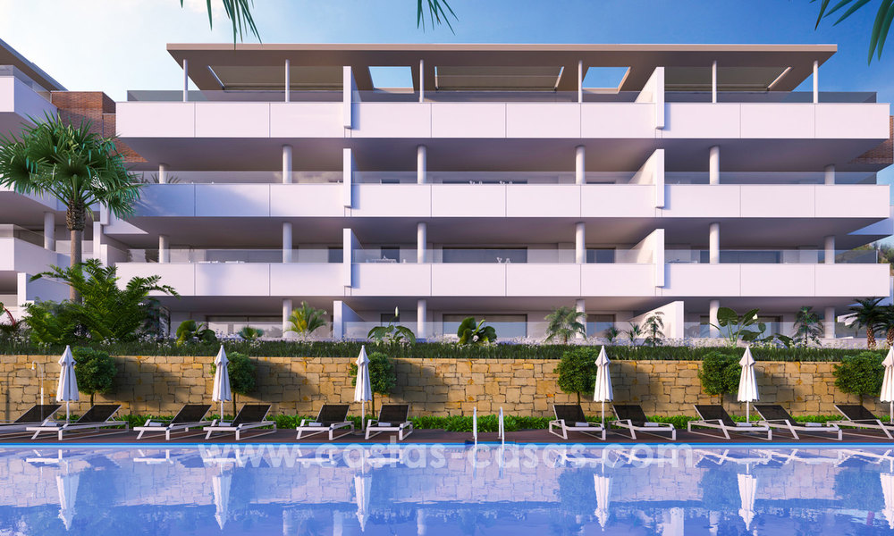 New modern apartments for sale in Benahavis - Marbella with golf and sea views. Last units, key ready. 6% Discount! 7324