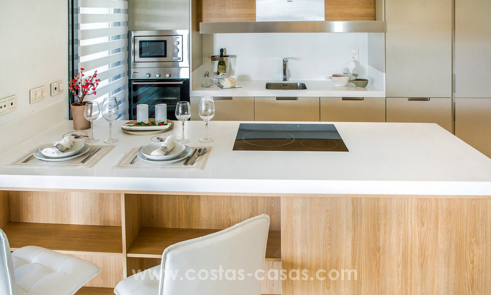 New modern apartments for sale in Benahavis - Marbella with golf and sea views. Last units, key ready. 6% Discount! 7329
