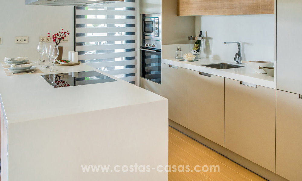 New modern apartments for sale in Benahavis - Marbella with golf and sea views. Last units, key ready. 6% Discount! 7330