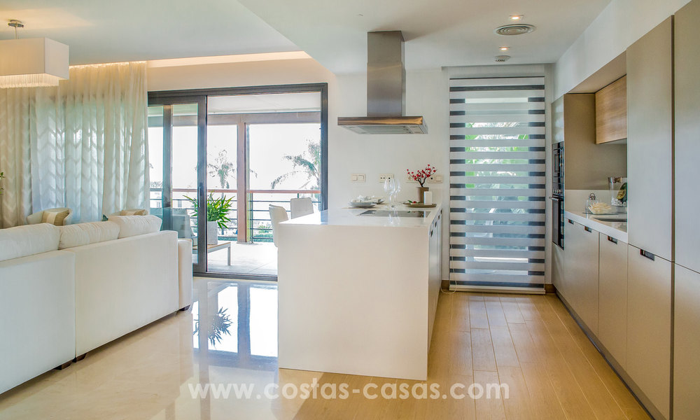 New modern apartments for sale in Benahavis - Marbella with golf and sea views. Last units, key ready. 6% Discount! 7335