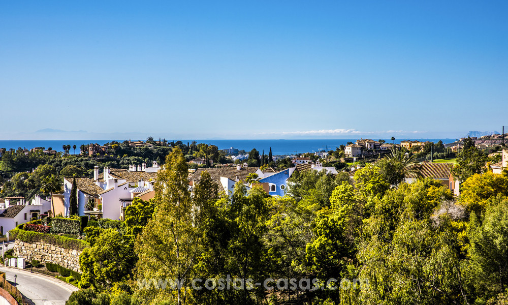 New modern apartments for sale in Benahavis - Marbella with golf and sea views. Last units, key ready. 6% Discount! 7355