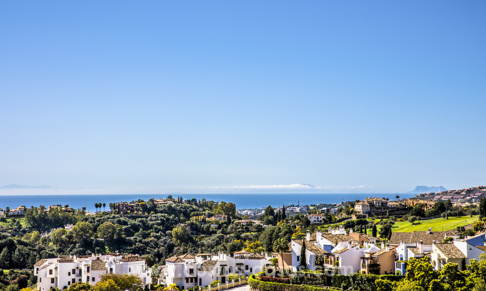 New modern apartments for sale in Benahavis - Marbella with golf and sea views. Last units, key ready. 6% Discount! 7357